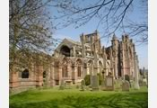 Merlose Abbey in the Scottish Borders