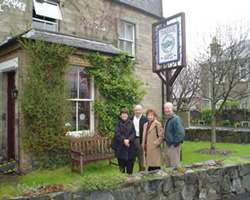 Time for lunch at the Traquair arms