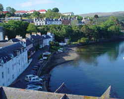 The town of Portree on Skye