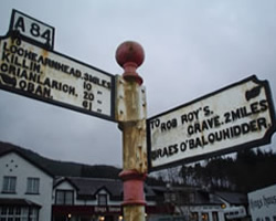 An old road sign at Balquhidder