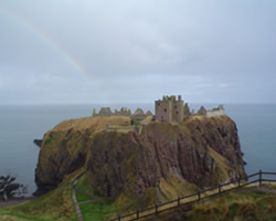 Dunnotar castle as featured in Hamlet