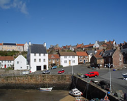 Crail Harbour on the east neuk