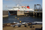 The ferry on the sea leg of this tour